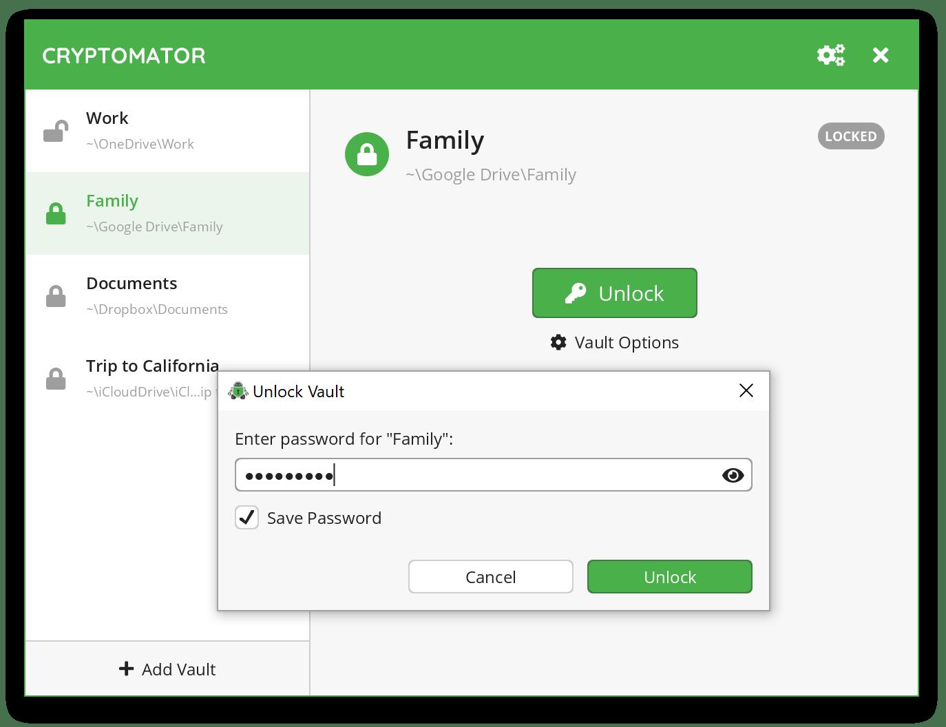 Windows'ta Dosyaları Şifrelemek için En İyi Programlar: Cryptomator